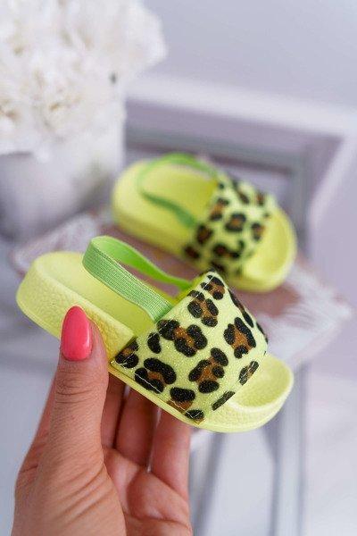 18c5b50ebab1 Dětská Nazouváky Dívčí Leopard brokát Limon Rimia