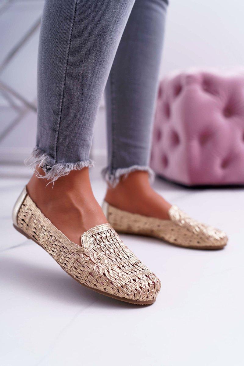 da199c1c33acb Dámské Baleríny Lu Boo Zlaté 4Ever | Módní a dostupná obuv online ...
