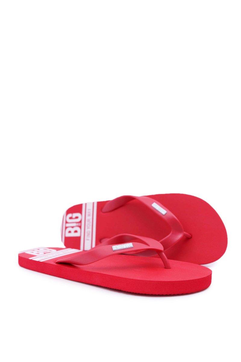 32f4e447bb073 Pánské Žabky Big Star Červené AA174416 | Módní a dostupná obuv ...